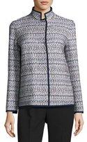 Lafayette 148 New York Branson Stand-Collar Tweed Jacket, Multi
