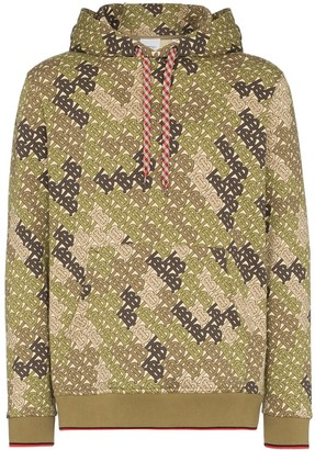 Burberry logo-print camouflage hoodie