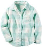 Carter's Girls 4-8 Buffalo Check Plaid Button-Down Shirt
