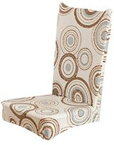 Kingfansion Universal Stretch Spandex Dining Room Wedding Banquet Chair Cover Slip Cover (D)
