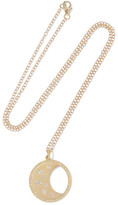 Andrea Fohrman Waning/ Waxing Moon Phase 14-karat Gold Diamond Necklace - one size