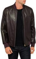Paul Smith Leather Zip Bomber Jacket