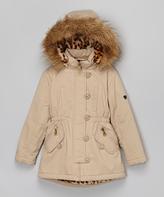 Urban Republic Beige Faux Fur Coat - Toddler & Girls