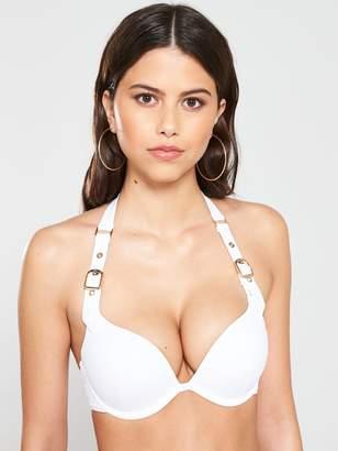 Boux Avenue Buckle Double Boost Bikini Top - White