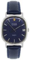 Tudor Geneve Blue Dial Quartz Vintage Mens Watch
