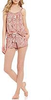 Lucky Brand Paisley Challis Pajamas