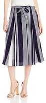 """NY Collection Women's Printed 29"""" Length Skirt with Tie Waist"""