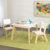 Kid Kraft 3-piece White and Natural Modern Table and Chair Set