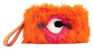 Anya Hindmarch Creeper One-Eyed Fur Clutch