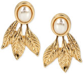 INC International Concepts M. Haskell for Gold-Tone Imitation Pearl Leaf Earring Jackets, Only at Macy's