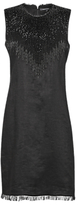 French Connection Abacus Beaded Neck Dress, Black