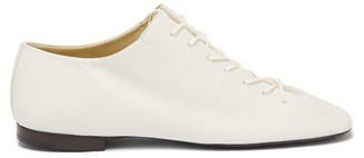 Lemaire Square-toe Leather Derby Shoes - White