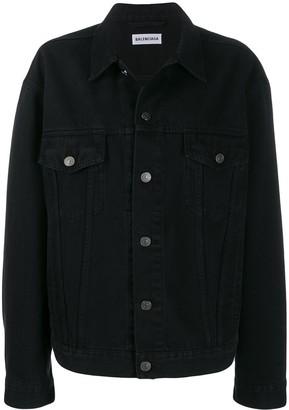 Balenciaga strass logo denim jacket