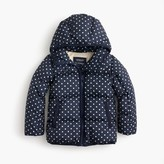J.Crew Girls' polka-dot marshmallow puffer jacket
