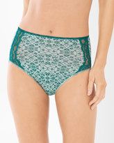 Soma Intimates Vanishing Edge Microfiber with Lace Modern Brief