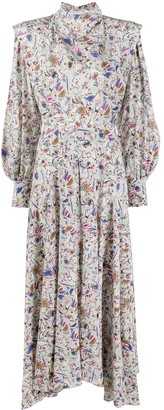 Isabel Marant Zakae abstract print dress