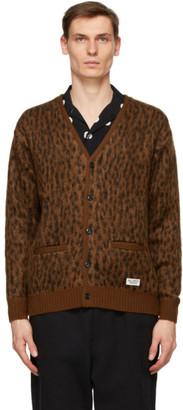 Wacko Maria Brown Mohair Leopard Cardigan