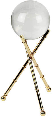 Sagebrook Home Crystal Orb On Gold Tripod Base