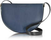 Victoria Beckham Small Half Moon Color Block Leather Bag