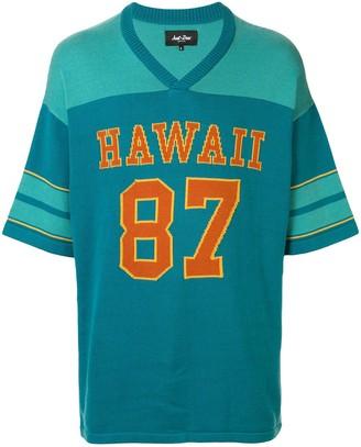 Just Don Hawaii 87 football sweater