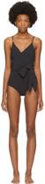 Stella McCartney Black Timeless Basics Wrap Swimsuit
