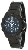 Adee Kaye #AK7140-MIPB Men's Black IP Stainless Steel Black Dial Chronograph Watch