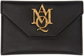 Alexander McQueen Black Insignia Envelope Card Holder