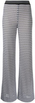 Missoni zig-zag flared trousers - women - Cotton/Nylon/Polyester/Viscose - 40