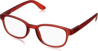 Corinne McCormack Women's Red Color Spex 1015410-000.CMC Square Reading Glasses
