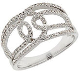 Lord & Taylor Diamond and 14K White Gold Open Ring