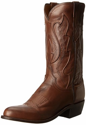 Lucchese Bootmaker Men's Cole-tan Ranch Hand Riding Boot 11 D US