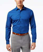 Alfani Slim Fit + Stretch Dot Print Dress Shirt, Only at Macy's