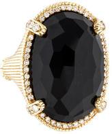 Judith Ripka 14K Onyx & Diamond Cocktail Ring
