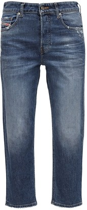 Diesel D-aryel Straight Cropped Washed Jeans