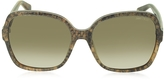 Jimmy Choo LORI/S 6UJDB Oversize Python Print Acetate Women's Sunglasses