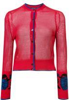 Sophie Theallet garden jacquard cropped cardigan - women - Silk - 4