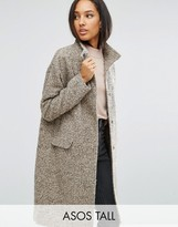 ASOS Tall ASOS TALL Oversized Coat in Wool Blend with Funnel Neck