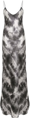 Nili Lotan Tie-Dye Print Silk Dress