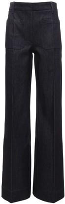 Victoria Beckham Fold Over High Waist Jeans