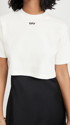 Off-White Rib Cropped Casual Tee