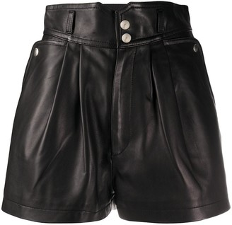 IRO Lydma leather shorts