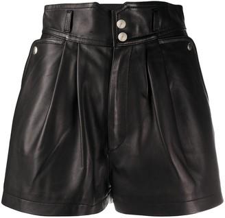 IRO Lydma leather shorts