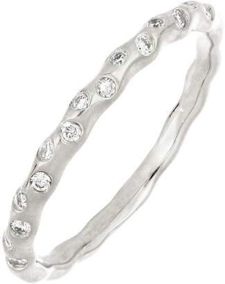 Bony Levy 18K White Gold Ofira Scattered Flush Diamond Stackable Ring - 0.14 ctw