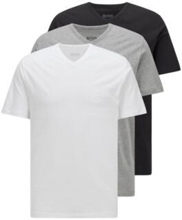 BOSS Three-pack of V-neck underwear T-shirts in cotton