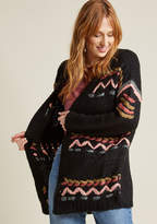 ModCloth Kitschy Stitches Oversized Cardigan in L