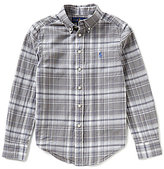 Ralph Lauren Big Boys 8-20 Madras-Plaid Long-Sleeve Shirt