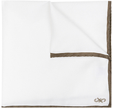 Jaeger Silk Border Pocket Square, Ivory