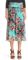Fuzzi Women's Border Floral Print Skirt