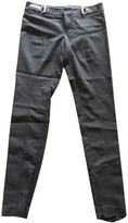 Gucci black cotton trousers wit.
