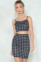 Nasty Gal Off Guard Polka Dot Crop Top and Skirt Set
